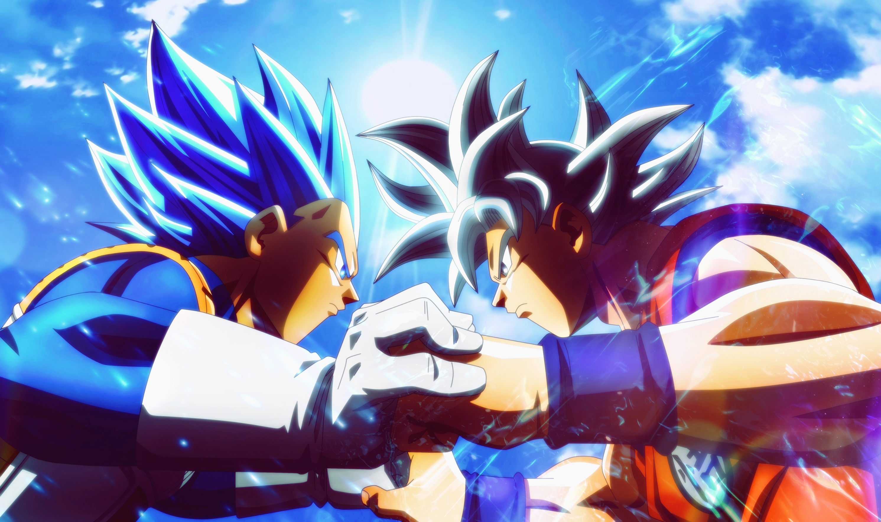 Goku Vs Vegeta, Vegeta Supera a Goku,Estatuani